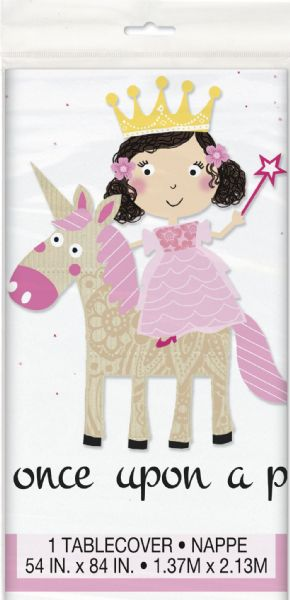 Pink Princess & Unicorn Plastic Tablecover